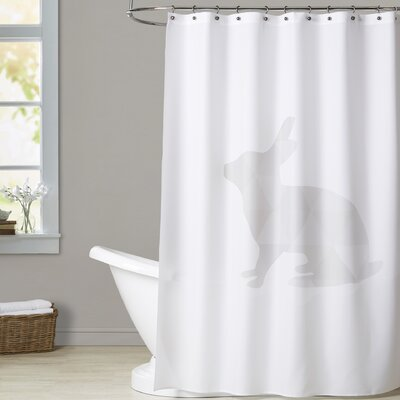 Melinda Wood Rabbit Shower Curtain