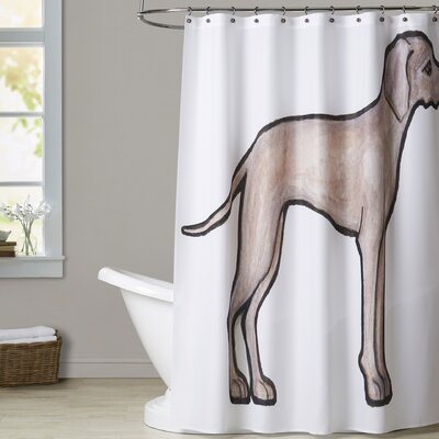 Callen Weimeraner Shower Curtain