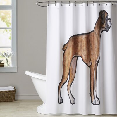 Giambrone Boxer Shower Curtain