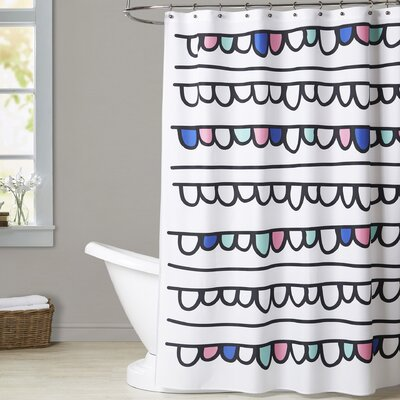 Ashlee Rae String of Bubbles Shower Curtain