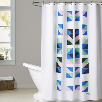 Ashlee Rae Geometric Tracks Shower Curtain