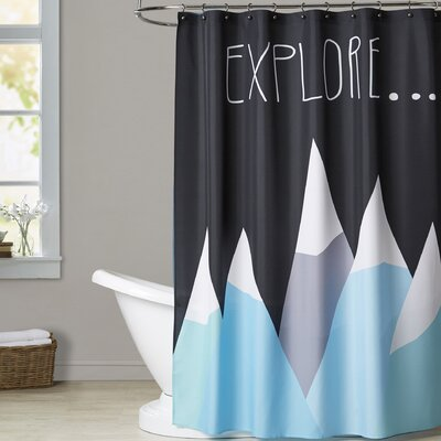 Ashlee Rae Explore Shower Curtain