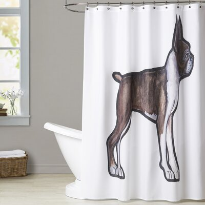 Mcdougle Boston Terrier Shower Curtain
