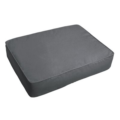 Indoor/Outdoor Floor Pillow Fabric: Charcoal