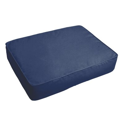 Indoor/Outdoor Floor Pillow Fabric: Dark Blue