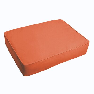 Indoor/Outdoor Floor Pillow Fabric: Mandarin Orange