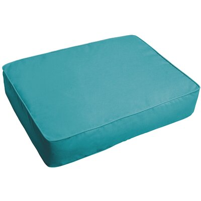Indoor/Outdoor Floor Pillow Fabric: Aqua Blue