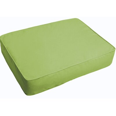 Indoor/Outdoor Floor Pillow Fabric: Apple Green