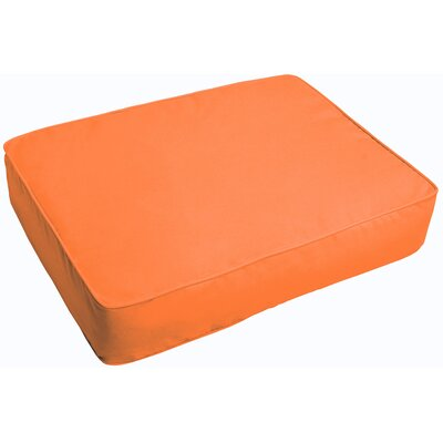 Indoor/Outdoor Floor Pillow Fabric: Bright Orange