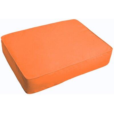 Indoor/Outdoor Floor Pillow Fabric: Bright Orange