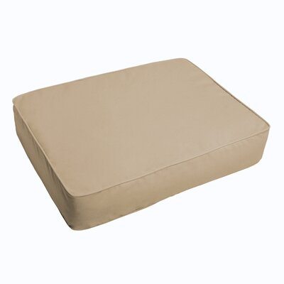 Indoor/Outdoor Floor Pillow Fabric: Beige