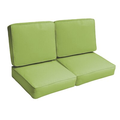Indoor/Outdoor Loveseat Cushion Set Fabric: Apple Green