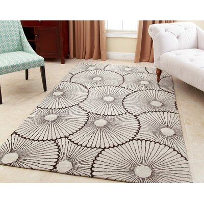 Rhoda Hand-Tufted Brown Area Rug Rug Size: 5 x 8