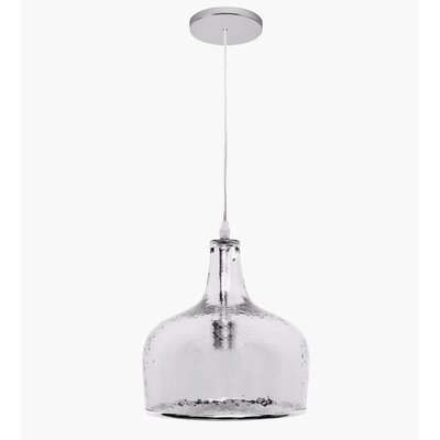 New City 1-Light Mini Pendant Shade Color: Clear