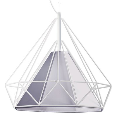Kastel 1-Light Geometric Pendant Shade Color: Silver, Size: 16