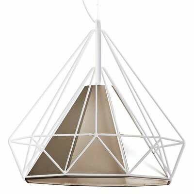 Kastel 1-Light Geometric Pendant Shade Color: Tan, Size: 16 H x 18 W x 18 D