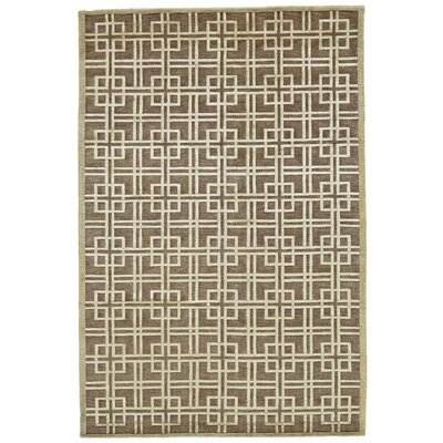 Kentwood Brown/Tan Area Rug Rug Size: Rectangle 56 x 86