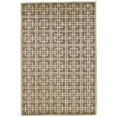 Kentwood Brown/Tan Area Rug Rug Size: 56 x 86