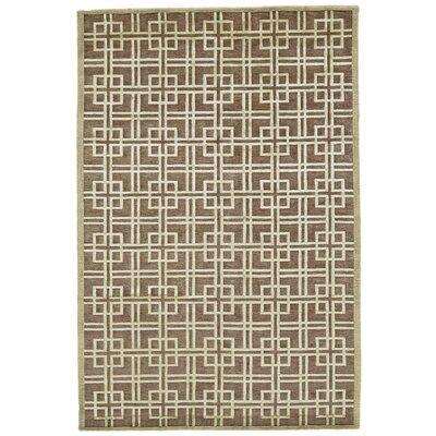 Kentwood Brown/Tan Area Rug Rug Size: 56 x 86