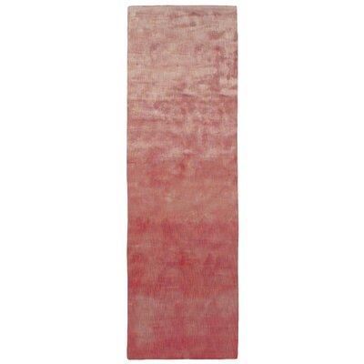 Metro Hand Woven Rust/Cream Area Rug Rug Size: Runner 26 x 8
