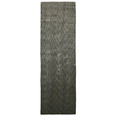 Metro Smoke Black/Grey Area Rug Rug Size: Runner 26 x 8