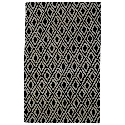 Milano Gray/Black Area Rug Rug Size: Rectangle 5 x 8