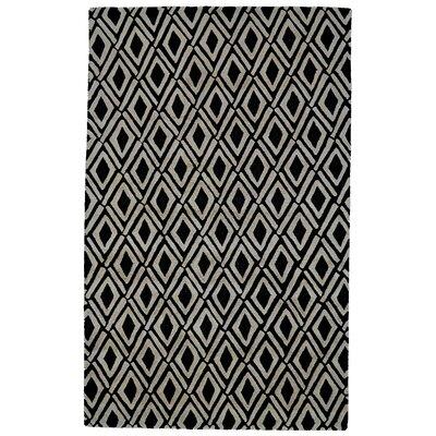 Milano Gray/Black Area Rug Rug Size: 5 x 8