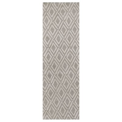 Milano Light Gray Area Rug Rug Size: Runner 26 x 8