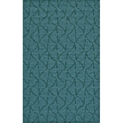 Murray Hand Woven Wool Teal Area Rug Rug Size: Rectangle 36 x 56