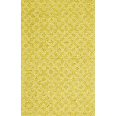 Murray Hand-Woven Yellow Area Rug Rug Size: 96 x 136