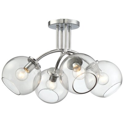 Millbrook 4-Light Semi Flush Mount