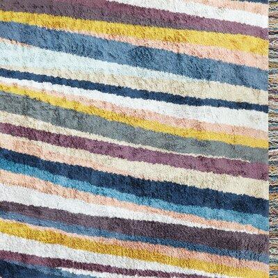Ryder Handmade-Woven Blue/Gray Area Rug Rug Size: 9 x 12