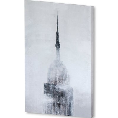 5th Avenue Framed Original Painting on Wrapped Canvas