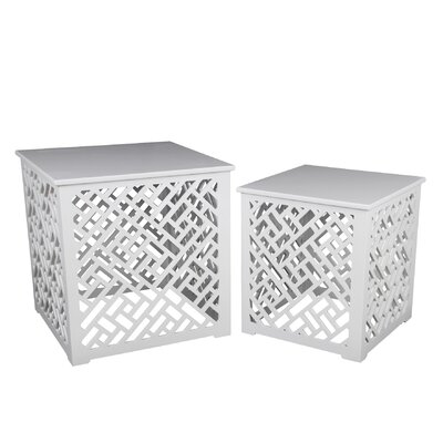 Mestas 2 Piece Cut Out Nesting Tables