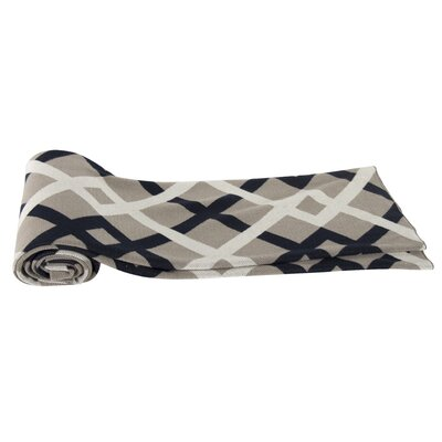 Oden Cashmere Throw Blanket Color: Navy