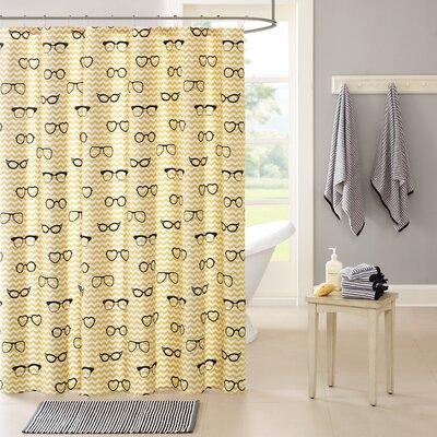 Brayden Studio Kali Cotton Printed Shower Curtain