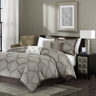 Riddell 7 Piece Comforter Set Size: Queen, Color: Mocha