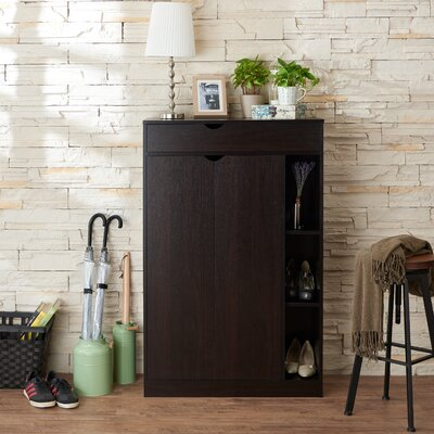 Modern 8-Pair Shoe Storage Cabinet