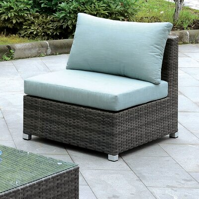 Oden Outdoor Armless Chair with Cushions