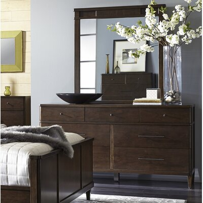 Spring Street 7 Drawer Dresser with Mirror