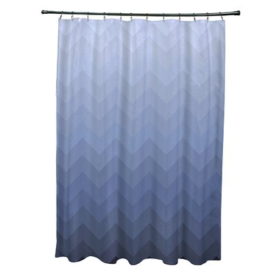 Banda Shower Curtain Color: Blue