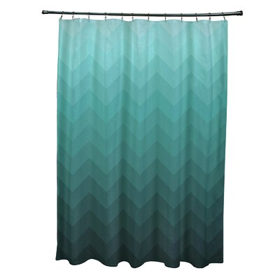 Banda Shower Curtain Color: Aqua