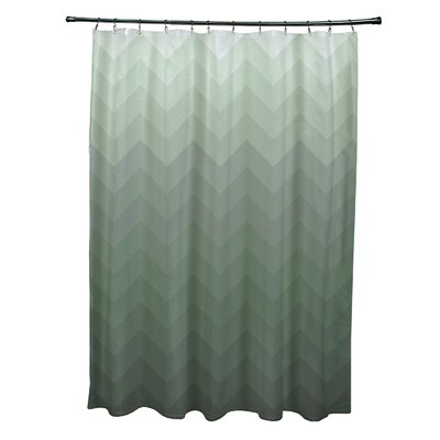 Costilla Shower Curtain Color: Green
