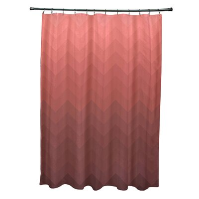 Banda Shower Curtain Color: Rust