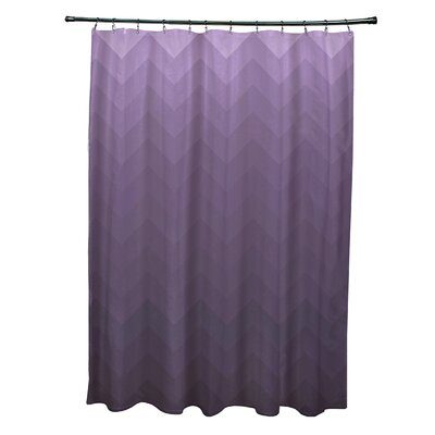 Costilla Shower Curtain Color: Purple