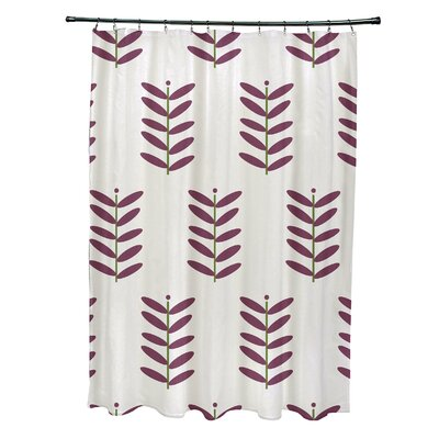 Delany Shower Curtain Color: Off White/Purple
