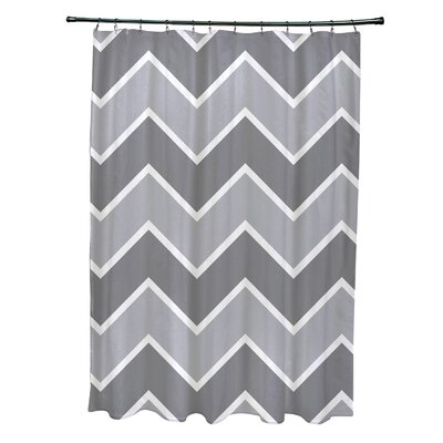 Costilla Chevron Shower Curtain Color: Gray