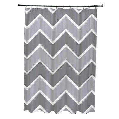 Costilla Chevron Shower Curtain Color: Gray