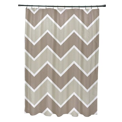 Costilla Chevron Shower Curtain Color: Beige/Oatmeal