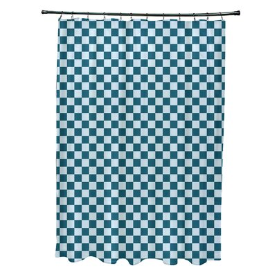 Delany Geometric Shower Curtain Color: Teal/Blue